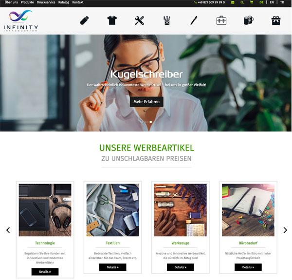 Webseite infinityintro.com